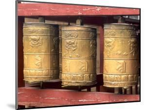 Religious Prayer Wheels, Ulaan Baatar, Mongolia by Bill Bachmann