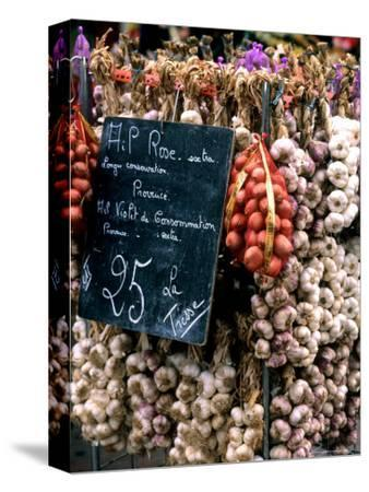 Ropes of Garlic in Local Shop, Nice, France