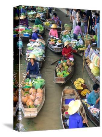 Shopping Boats at the Floating Market, Damnern Saduak, Bangkok, Thailand