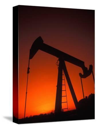 Silhouette of Oil Pump Jack, Tulsa, Oklahoma
