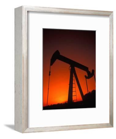 Silhouette of Oil Pump Jack, Tulsa, Oklahoma