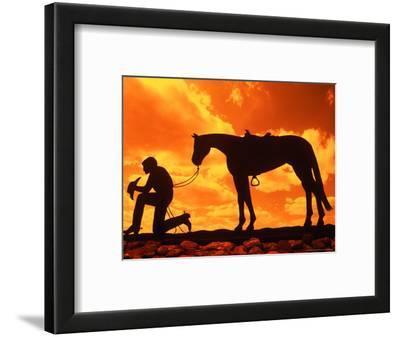 Silhouette of the Cowboy Sculpture, Henrietta, Texas, USA