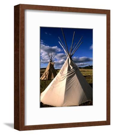 Sioux Teepee at Sunset, Prairie near Mount Rushmore, South Dakota, USA