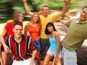 Teens Having Fun Outdoors by Bill Bachmann