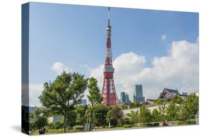 Tokyo, Japan. Tokyo Tower and the Zojo-Ji Temple in Shiba Neighborhood