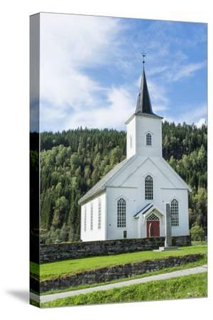 Vinje Church with Red Door and Forest of Trees, Vinje, Norway