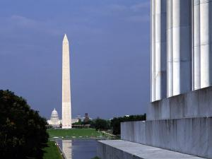 Washington Monument from Lincoln Memorial, Washington, D.C., USA by Bill Bachmann