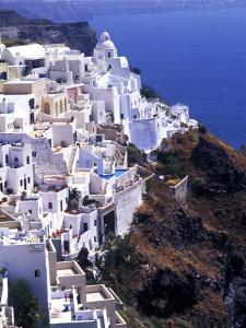 White Buildings in Oia Santorini, Athens, Greece by Bill Bachmann