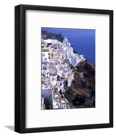 White Buildings in Oia Santorini, Athens, Greece
