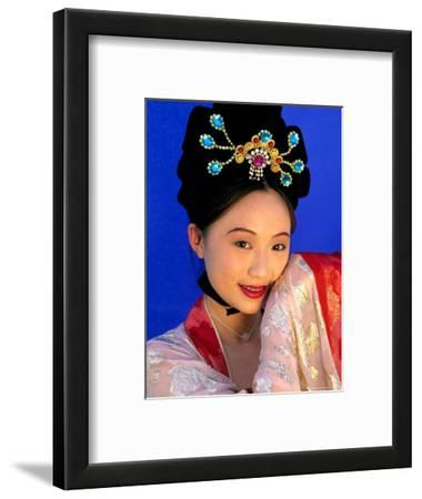 Woman in Tang Dynasty Traditional Costume, China
