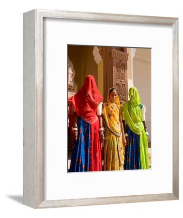 Women in Doorway of Fort Palace, Jodhpur, Fort Mehrangarh, Rajasthan, India