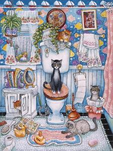 Bathroom Cats by Bill Bell