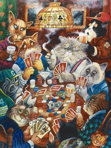 Poker Cats by Bill Bell