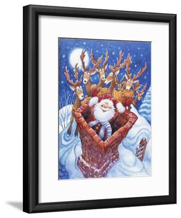 Reindeer Watch Santa Slide Down Chimney