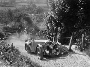 1933 MG J1 taking part in a West Hants Light Car Club Trial, Ibberton Hill, Dorset, 1930s by Bill Brunell