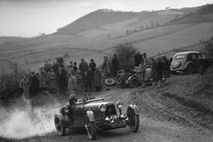Aston Martin 2-seater of JD Keightley competing in the MG Car Club Midland Centre Trial, 1938 by Bill Brunell