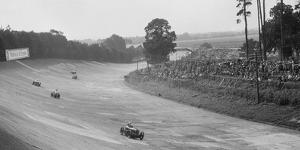 Austin 7 of Charles Goodacre and MG C of the Earl of March, BRDC 500 Mile Race, Brooklands, 1931 by Bill Brunell