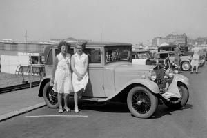 Bianchi saloon of Kitty Brunell at the B&HMC Brighton Motor Rally, Brighton, Sussex, 1930 by Bill Brunell