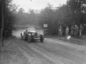 Bugatti Type 43, Bugatti Owners Club Hill Climb, Chalfont St Peter, Buckinghamshire, 1935 by Bill Brunell