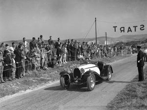 Bugatti Type 55 of CI Craig competing at the Bugatti Owners Club Lewes Speed Trials, Sussex, 1937 by Bill Brunell