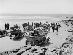 Cars at Porthcawl Speed Trials, Wales, early 1920s by Bill Brunell