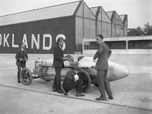 Count Louis Zborowski with his Aston Martin 1486 cc, Brooklands, 1921 by Bill Brunell