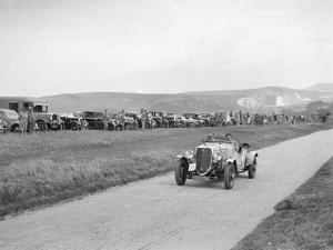 Ford V8 open tourer of GJC Matthews competing at the Lewes Speed Trials, Sussex, 1938 by Bill Brunell