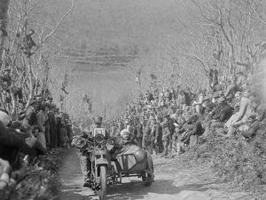 Harley-Davidson of RW Praill, MCC Lands End Trial, Hustyn Hill, Wadebridge, Cornwall, 1933 by Bill Brunell