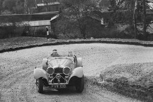 Jaguar SS 100 of CJ Gibson competing in the RAC Rally, 1939 by Bill Brunell