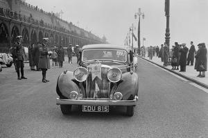 Jaguar SS of Elsie Wisdom at the RAC Rally, Brighton, Sussex, 1939 by Bill Brunell