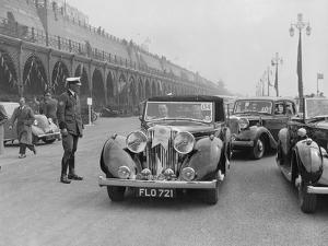 Jaguar SS of TH Bridgewater at the RAC Rally, Brighton, Sussex, 1939 by Bill Brunell