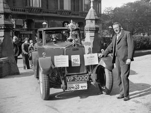 Lanchester Straight Eight of A Millership at the Southport Rally, 1928 by Bill Brunell