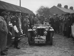 MG PA of AC Sears at the RAC Rally, 1939 by Bill Brunell