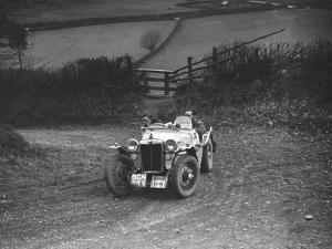 MG PB of K Scales competing in the MG Car Club Midland Centre Trial, 1938 by Bill Brunell
