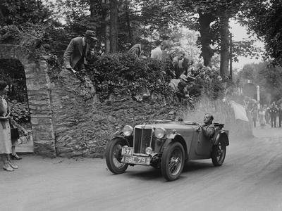 MG TA of Ken Crawford of the Cream Cracker Team, Torbay, Devon, MCC Torquay Rally, 1938