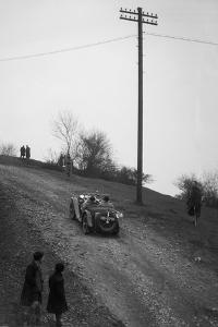 Miss EV Watsons MG J3 climbing Nailsworth Ladder, Sunbac Colmore Trial, Gloucestershire, 1934 by Bill Brunell