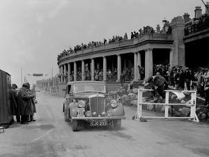 Morris Twenty of RA Bishop competing in the Blackpool Rally, 1936 by Bill Brunell
