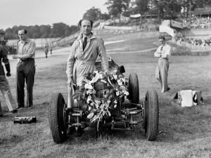 Raymond Mays with his ERA at Brooklands, Surrey, 1936 by Bill Brunell