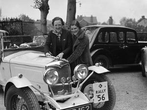 Riley Sprite of Kay Hague at the RAC Rally, 1938 by Bill Brunell