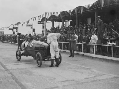 Salmson of M Devaux at the JCC 200 Mile Race, Brooklands, Surrey, 1921