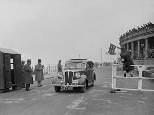 Standard Flying Sixteen of JR Bentley competing in the Blackpool Rally, 1936 by Bill Brunell