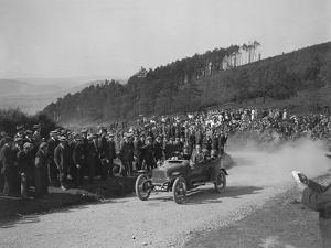 Talbot competing in the South Wales Auto Club Caerphilly Hillclimb, Wales, pre 1915 by Bill Brunell
