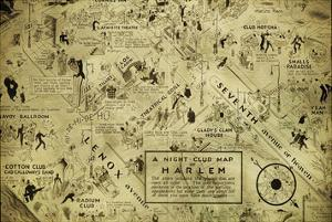 A night club map of Harlem by Bill Cannon