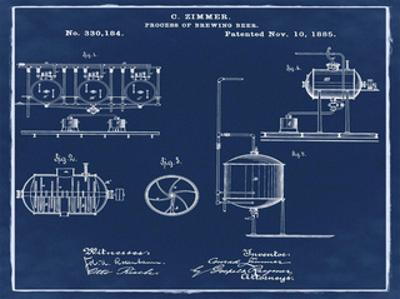 Brewing Process 1885 Blue by Bill Cannon