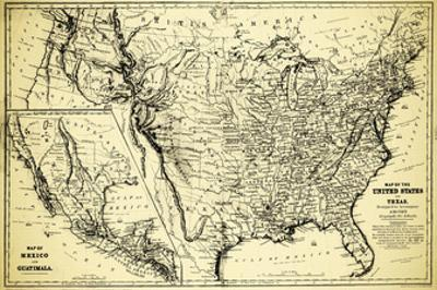 Map of Mexico and Guatimala by Bill Cannon