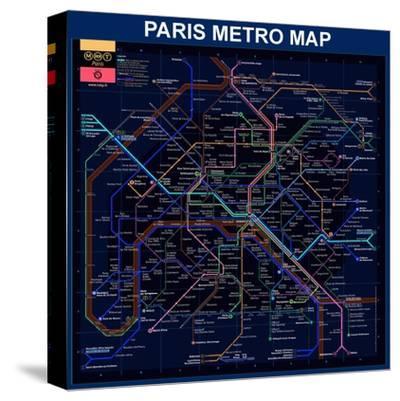 Paris Metro Map- Blue