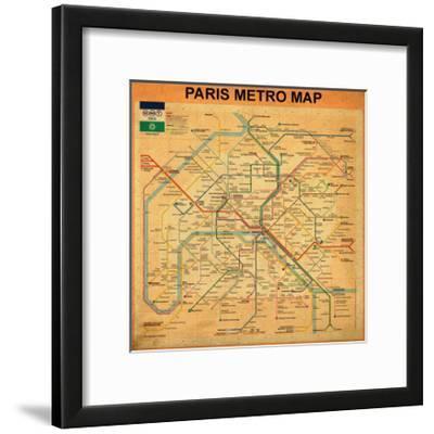 Paris Metro Map - Orange