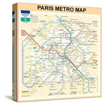 Paris Metro Map - Peach