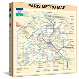 Beautiful Paris Métro Canvas Artwork For Sale Posters And Prints - Paris metro map print