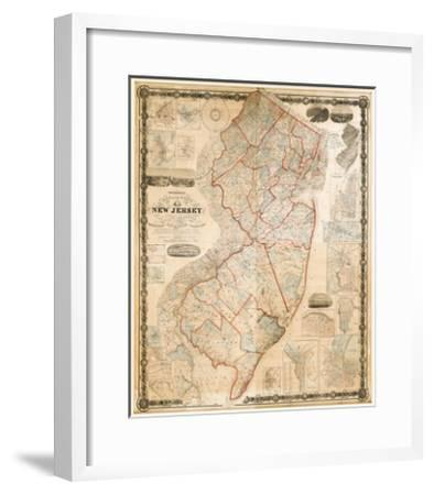 Topographical map of New Jerse